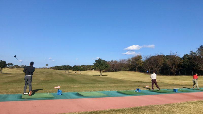 GEN-TENゴルフコースレッスン宮崎強化合宿青島GCドライビングレンジの写真