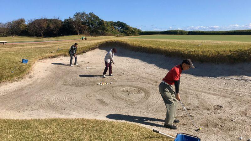 GEN-TENゴルフコースレッスン宮崎強化合宿青島GCバンカー練習場の写真