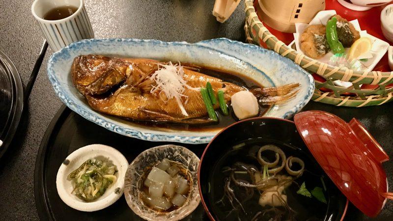 GEN-TENゴルフコースレッスン稲取GC金目鯛姿煮の写真