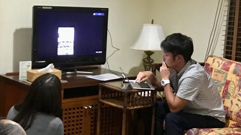GEN-TENゴルフコースレッスン沖縄キャンプ喜瀬CCスイング解析の写真