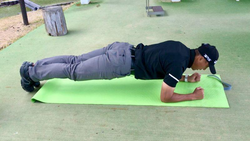 GEN-TENゴルフコースレッスントレーニングプランクの写真