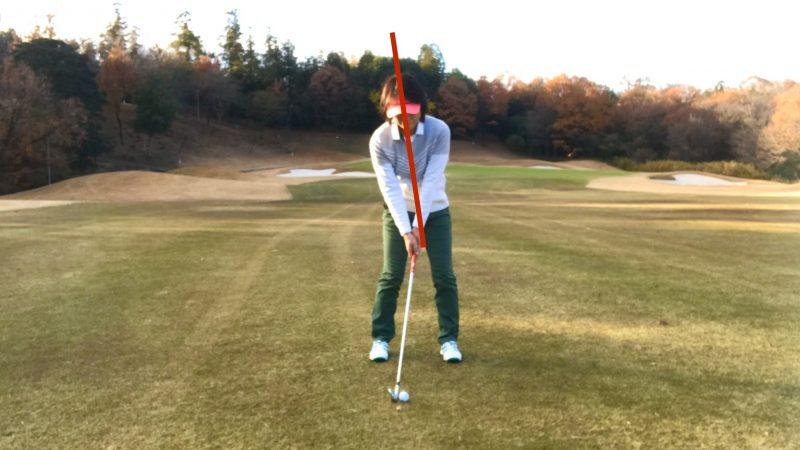 GEN-TENゴルフコースレッスンスパインチルトアドレスの写真