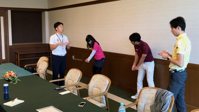 GEN-TENゴルフコースレッスン講義の写真