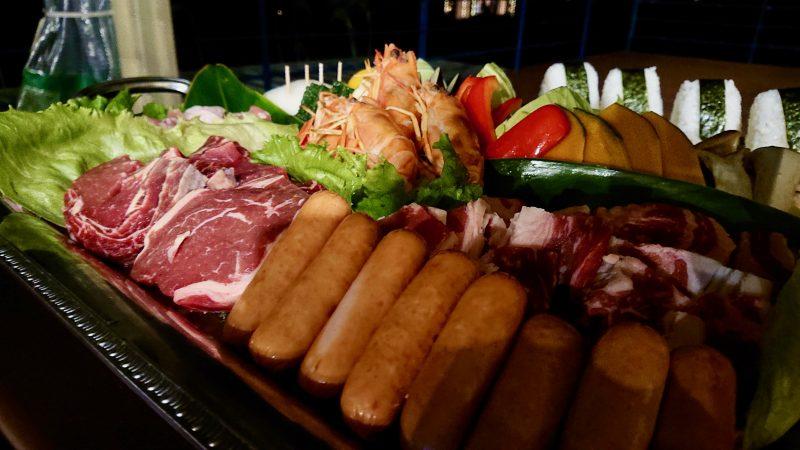 GEN-TENゴルフコースレッスン沖縄キャンプ喜瀬CCBBQ食材の写真