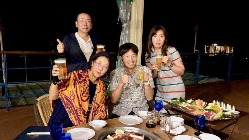 GEN-TENゴルフコースレッスン沖縄キャンプ喜瀬CC夕食の写真