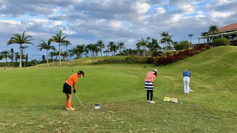 GEN-TENゴルフコースレッスン沖縄キャンプ喜瀬CCアプローチ練習の写真
