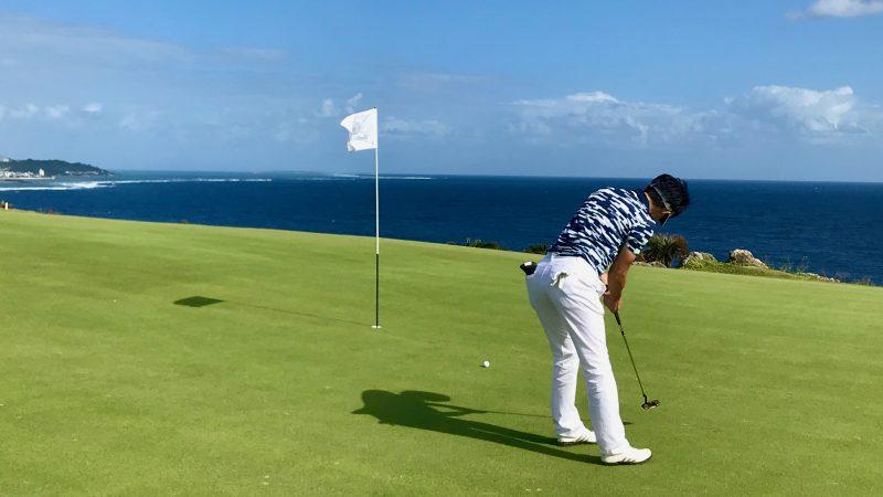 GEN-TENゴルフコースレッスン沖縄キャンプザ・サザンリンクスGCミドルパットの写真