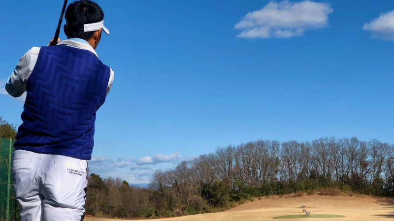 GEN-TENゴルフコースレッスンビギナーレッスンロングゲームフィニッシュ後方からの写真