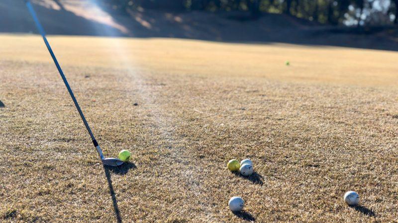 GEN-TENゴルフコースレッスンビギナーレッスン定点練習アプローチアップの写真