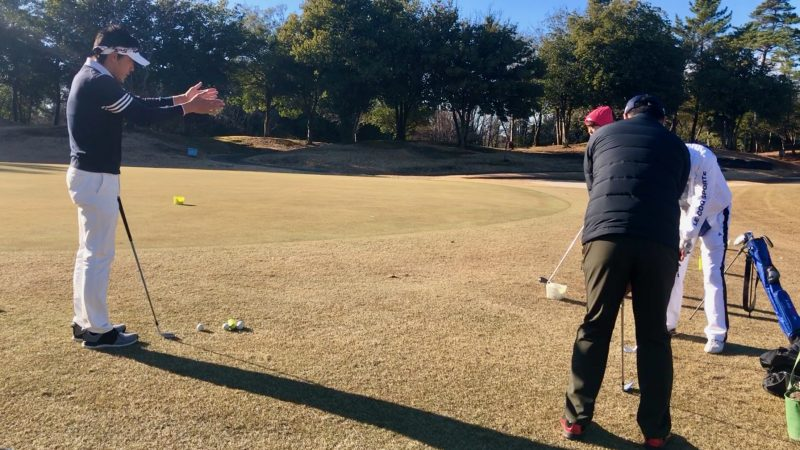 GEN-TENゴルフコースレッスンビギナーレッスン定点練習アプローチレッスンの写真