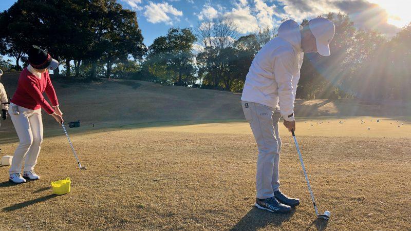 GEN-TENゴルフコースレッスンヒント定点練習アプローチショットの写真