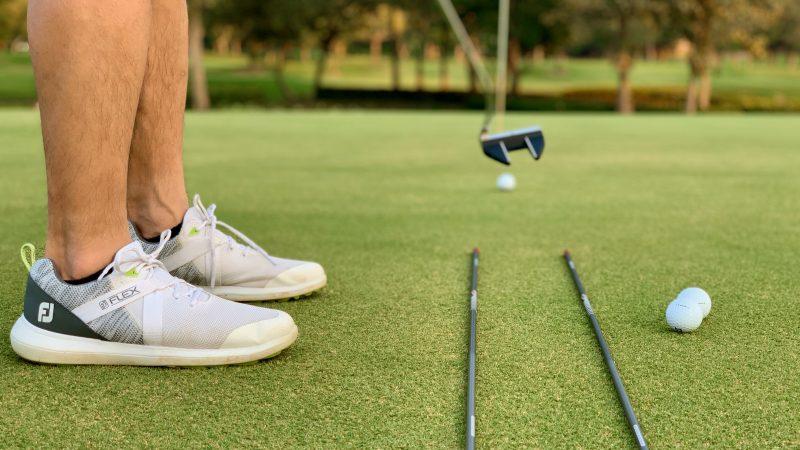GEN-TENゴルフコースレッスン強化合宿アルパインGRパット練習の写真