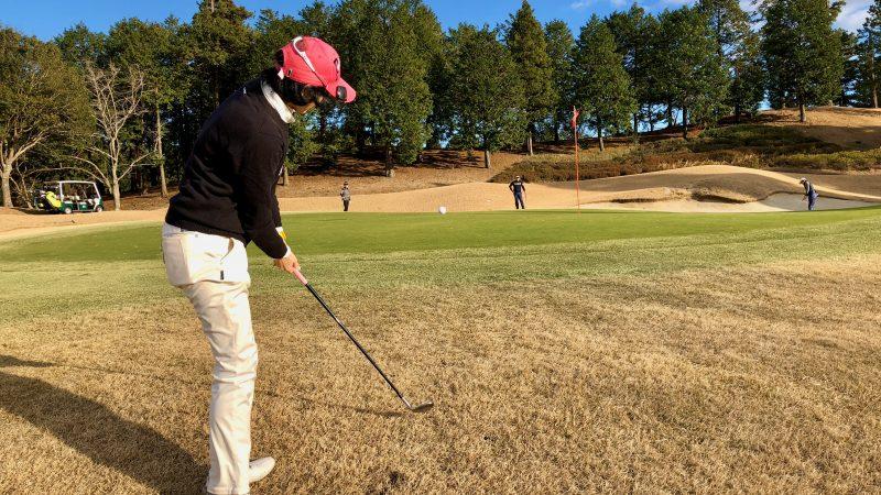 GEN-TENゴルフコースレッスン東千葉CCプレイングアプローチショットの写真