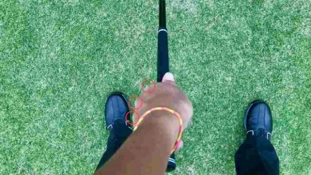 GEN-TENゴルフコースレッスンフックグリップ上からの写真