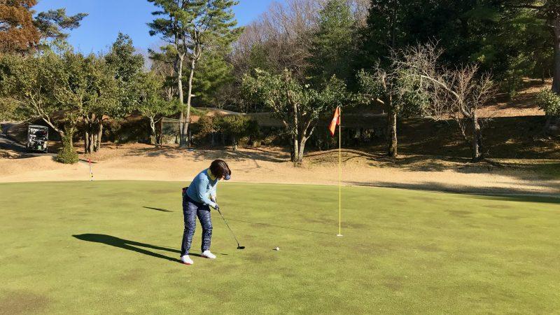 GEN-TENゴルフコースレッスン千刈CCハーフラウンドパットの写真