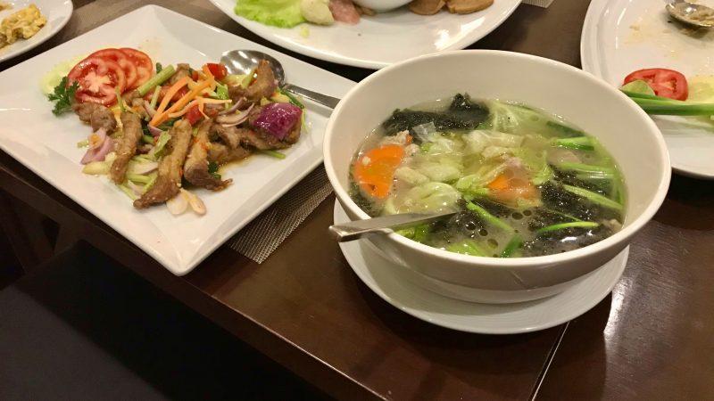 GEN-TENゴルフコースレッスンアルパインGR料理スープの写真