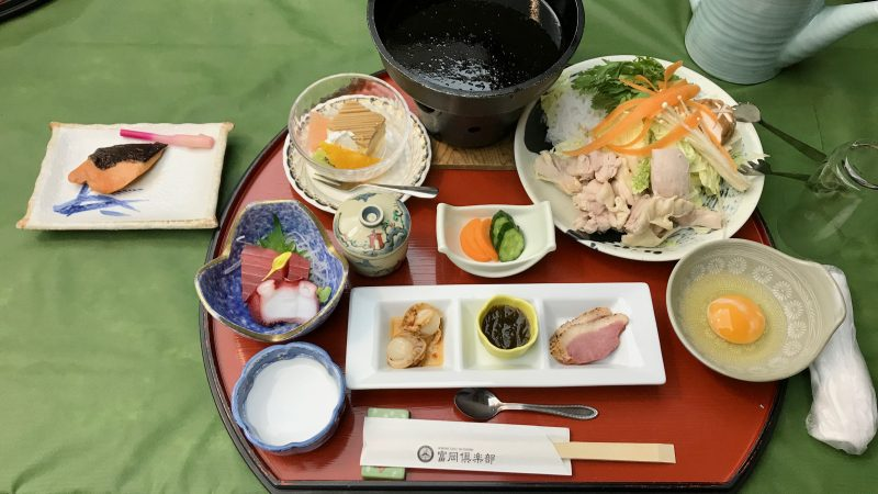 GEN-TENコースレッスン富岡倶楽部すき焼き