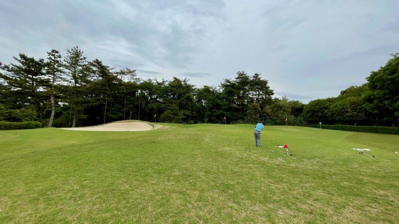 GEN-TENコースレッスンハーフラウンド武蔵松山CCアプローチエリア