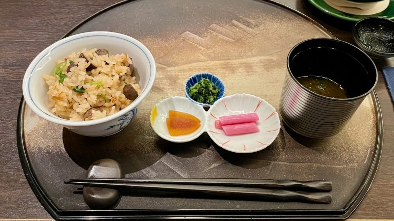 GEN-TENコースレッスン強化合宿グランディ那須白河GCディナー和食ご飯
