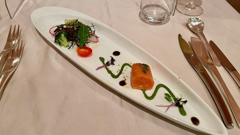 GEN-TENコースレッスン強化合宿グランディ那須白河GCディナーフレンチ前菜